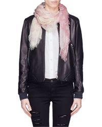 Alexander McQueen - Pink Dégradé Skull Print Modal-silk Scarf - Lyst