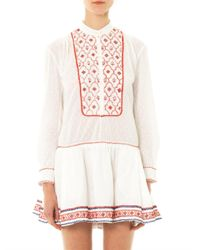Thierry Colson - White Lizabeth Embroidered Dress - Lyst