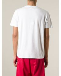 Alexander McQueen - White Abstract-Print T-Shirt for Men - Lyst