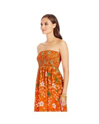 Diane von Furstenberg - Orange Dvf Hannah Strapless Chiffon Maxi Dress - Lyst