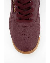 Reebok - Purple Exotics High-Top Sneaker - Lyst