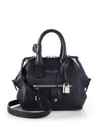 Marc Jacobs | Black Incognito Mini Textured Leather Top-handle Bag | Lyst
