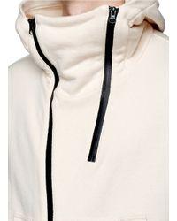 NLST - White Double Zip Front Hoodie for Men - Lyst