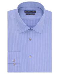 Geoffrey Beene | Blue Men's Fitted Wrinkle Free Textured Sateen Dress Shirt for Men | Lyst