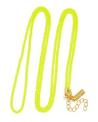 BaubleBar | Yellow Fluoro Charm Chain | Lyst