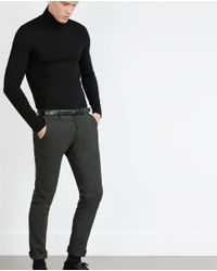 Zara | Gray Colored Trousers for Men | Lyst