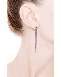 Yossi Harari - Red Lilah Stick Pave Ruby Earrings - Lyst