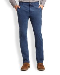 Madison Supply - Blue Stretch Cotton Chinos for Men - Lyst