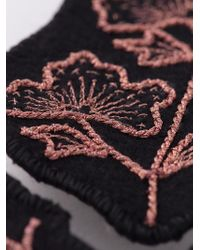 Ann Demeulemeester | Black Embroidered Brooch | Lyst