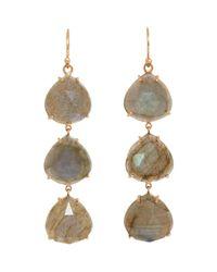 Irene Neuwirth | Metallic Women's Gemstone Triple-drop Earrings | Lyst