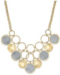 Style & Co. | Metallic Glitter Circle Bib Necklace | Lyst