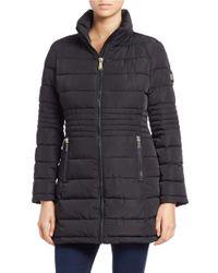 Calvin Klein   Black Faux Fur-trimmed Puffer Coat   Lyst