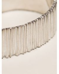 1-100 | Metallic Textured Cuff | Lyst