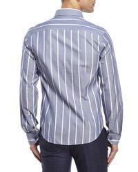 Moods Of Norway - Blue Arne Vik Striped Sport Shirt for Men - Lyst