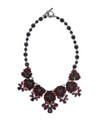 Marchesa | Red Flower Statement Necklace | Lyst
