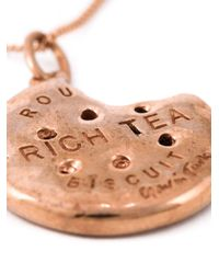 True Rocks - Pink 'Gavin Turk Bitten Biscuit' Necklace - Lyst