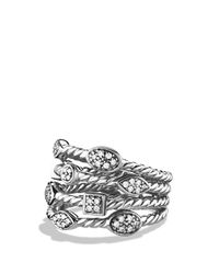 David Yurman | Metallic Confetti Four-row Ring With Diamonds | Lyst