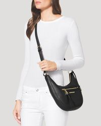 MICHAEL Michael Kors - Natural Crossbody - Rhea Zip Small Messenger - Lyst