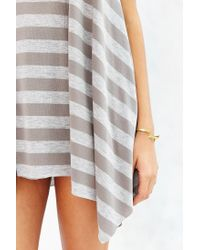 Project Social T - Brown Walk The Line Tunic Top - Lyst