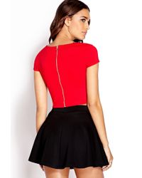 Forever 21 - Daring Zippered Crop Top - Lyst