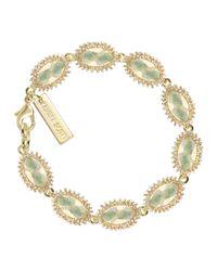 Kendra Scott | Green Jana Iridescent Station Bracelet | Lyst