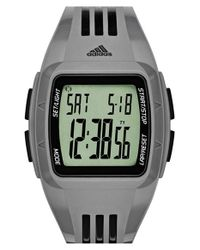 Adidas Originals - Gray 'duramo' Digital Watch for Men - Lyst