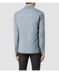 AllSaints - Blue Hermosa Shirt for Men - Lyst
