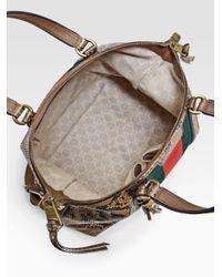 Gucci | Animal Rania Python Top-Handle Bag | Lyst