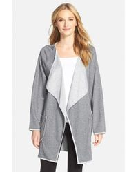 Carole Hochman - Gray Drape Front Short Robe - Lyst