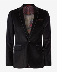 Ted Baker | Blue Velvet Blazer for Men | Lyst