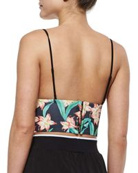 Clover Canyon - Multicolor Floral Sunrise Printed Crop Top - Lyst