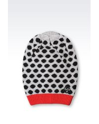 Armani Jeans | Red Wool Blend Hat | Lyst