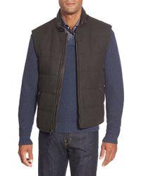 Bugatchi | Brown Reversible Zip Vest for Men | Lyst