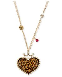 Betsey Johnson | Metallic Gold-Tone Daisy Large Pendant Necklace | Lyst