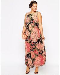 ASOS - Multicolor Maxi Dress In Floral Print - Lyst