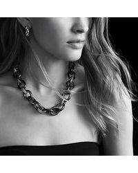 David Yurman - Metallic Chain Oval Extra-large Link Necklace - Lyst