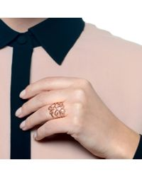 Lulu Frost - Pink Code Number 14Kt Rose Gold #5 Ring - Lyst