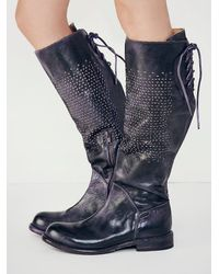 Free People | Black Manchester Tall Boot | Lyst