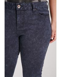 Forever 21   Gray Plus Size Mineral Wash Skinny Jeans   Lyst