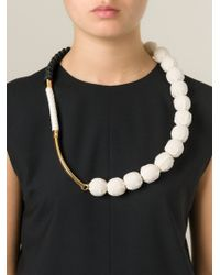 Marni | Natural Contrasting Panel Necklace | Lyst
