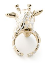 Roberto Cavalli | Metallic 'Giraffe' Ring | Lyst