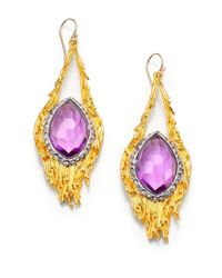 Alexis Bittar | Purple Elements Maldivian Nested Feather Drop Earrings | Lyst