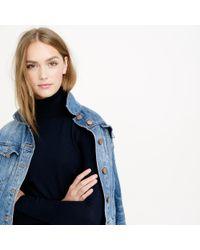 J.Crew | Blue Classic Turtleneck Sweater In Merino Wool | Lyst