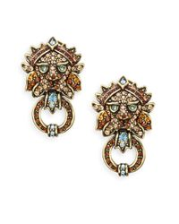 Heidi Daus | Metallic Bling Of The Jungle Swarovski Crystal Drop Earrings/goldtone | Lyst