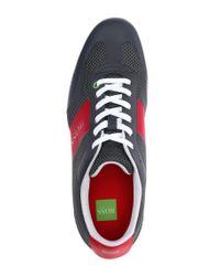 BOSS Green - Gray Mesh Sneakers 'Light Air' for Men - Lyst