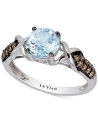 Le Vian | Blue ® Aquamarine (9/10 Ct. T.w.) And Diamond (1/5 Ct. T.w.) Ring In 14k White Gold | Lyst