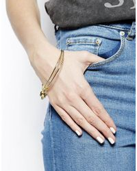 Sam Ubhi - Metallic Gold Skull Diamante Bracelet - Lyst