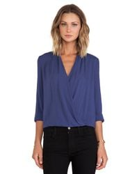 Blaque Label - Blue Crossover Blouse - Lyst