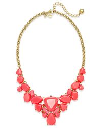 kate spade new york - Red 12K Gold-Plated Color Pop Short Necklace - Lyst