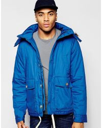 Native Youth | Blue Arctic Parka Jacket With Curved Hem for Men | Lyst